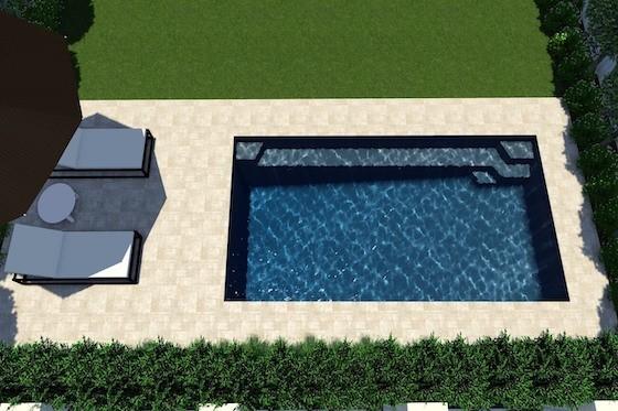 Horizon 6.5m Pool Computer Generated Image