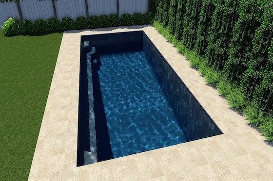 Horizon 7.5m Pool Computer Generated Image
